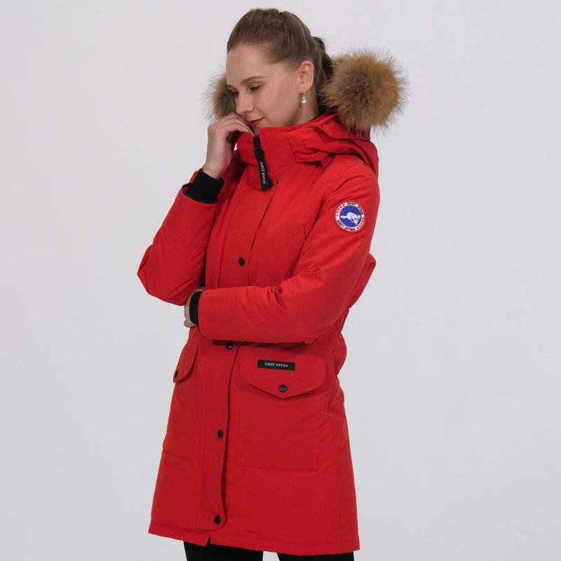 加拿大SaintDyfan95%女士白鹅绒服(经典升级款)·红色