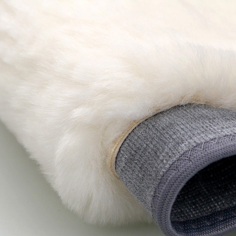进口澳洲皮毛一体式保暖护膝·灰色