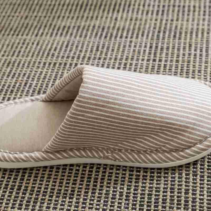一梦乳胶拖鞋均码款*2双·条纹深卡