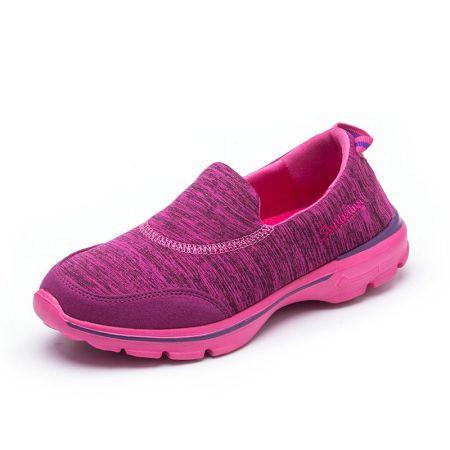 森巴伦超轻回弹健步休闲运动鞋中老年防滑透气减震一脚蹬男女鞋
