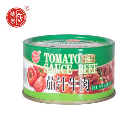 德丰茄汁牛肉罐头100g*8罐