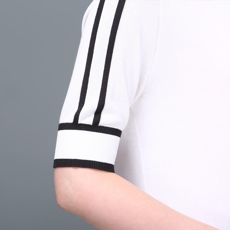 雅美乔真丝气质针织舒适百搭上衣~小香风,经典黑白2色可选·白色
