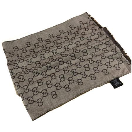 GUCCI新款双G超长羊毛围巾·咖啡色