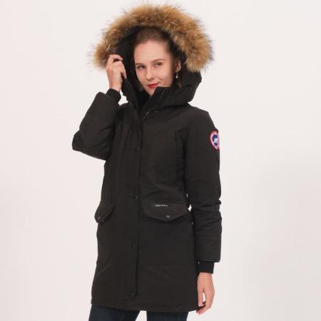 加拿大SaintDyfan95%女士白鹅绒服 (经典升级款)·黑色