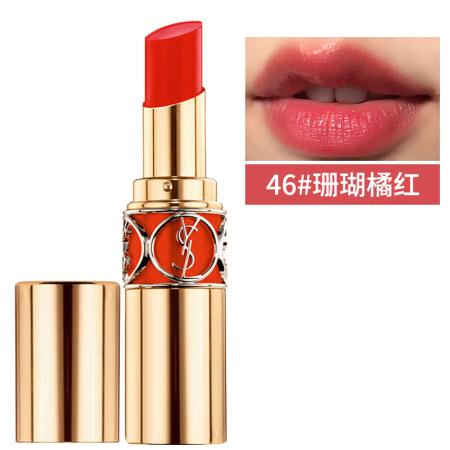 香港直邮 YSL圆管莹亮纯魅口红 46#珊瑚橘红 4g·YSLYG021