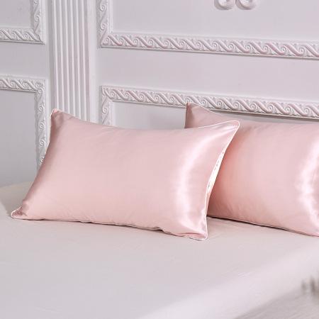 惠买兄弟-万福娘娘蚕丝枕套粉色装·粉色