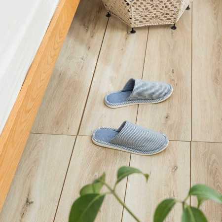 一梦乳胶拖鞋均码款*2双·条纹浅蓝