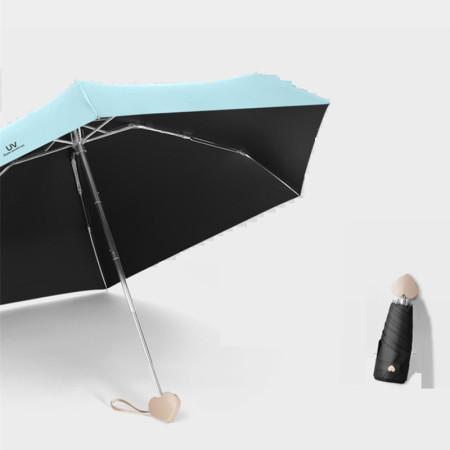 泳伶爱心手柄五折太阳伞·蓝色