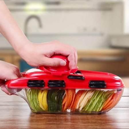 美之扣 多功能切菜器 升级款7刀片送护手器储物盒削皮器