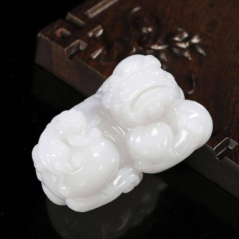 汇玉源羊脂玉貔貅孤品摆件(500g)