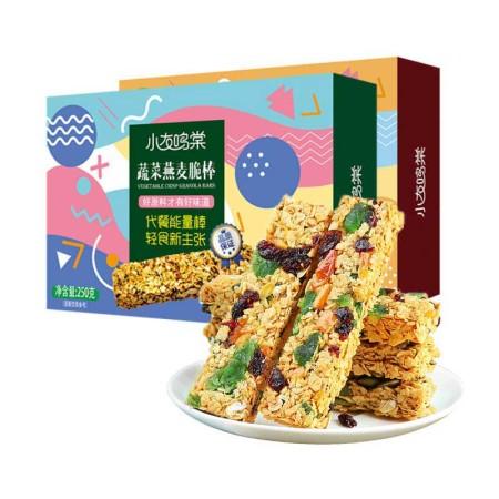 小友鸣棠无蔗糖水果燕麦脆棒250g*2盒