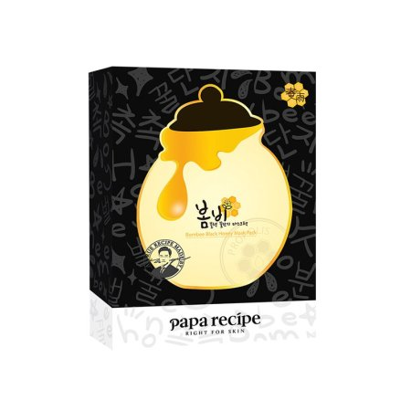香港直邮 PapaRecipe春雨 蜂蜜黑炭红参美白面膜·黑炭清洁