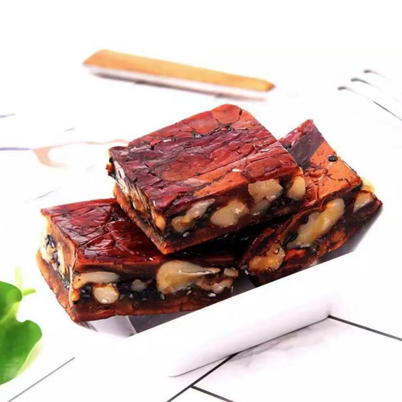 新疆枣夹核桃派250G*4袋(黑芝麻2袋+原味2袋)