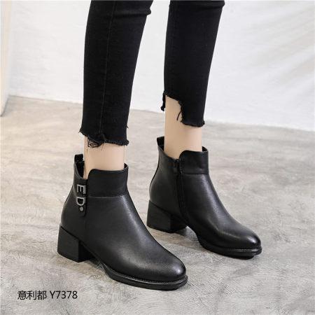 意利都新品靴子·7378·胎牛黑