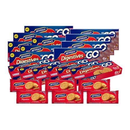 英国麦维他原装进口全麦消化饼共22盒(二种口味)