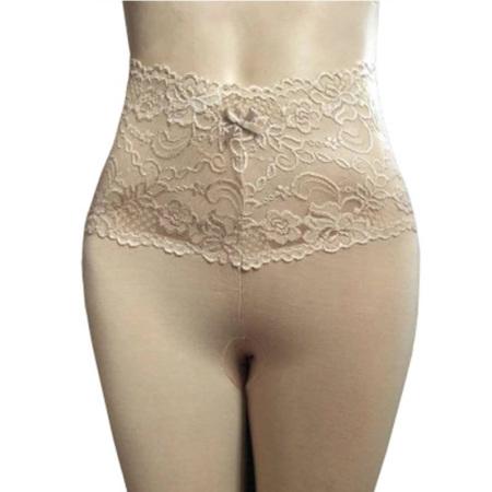 丁摩 蕾丝花边高腰弹力打底裤 修身显瘦薄款衬裤9803·肤色