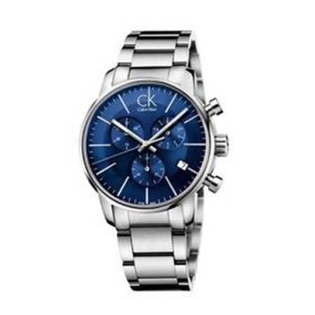 CK卡文克莱(CalvinKlein)手表 CITY系列夜光日历石英男士手表·蓝盘