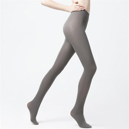 纤丝鸟80D炫彩天鹅绒丝袜3双组-灰色