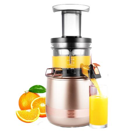 惠人原装进口三代升级款慢速榨汁机(买即送三层加厚汤锅)·金色