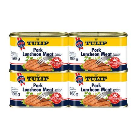 丹麦进口tulip经典午餐肉198g*4罐