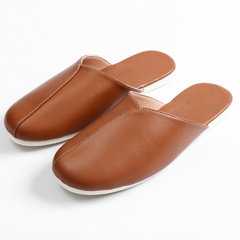 丁摩 头层绵羊皮拖鞋 柔软耐磨拖鞋 家居四季穿拖鞋男女款2双组·咖啡棕26+优雅粉27