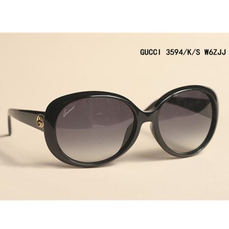 GUCCI时尚经典钻石纹太阳镜·黑色