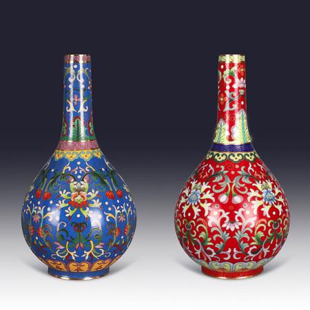 《锦上添花》故宫珐琅瓶