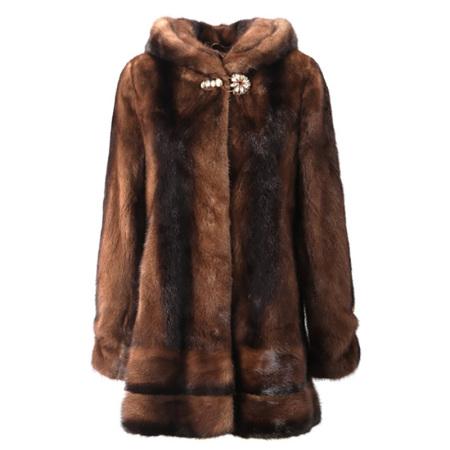 今昇优雅咖啡色整貂大衣
