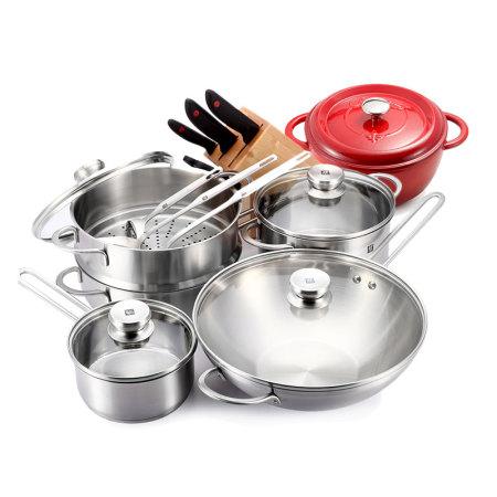 双立人 TWIN NovaIII厨房能手中式炒锅套装(14件)