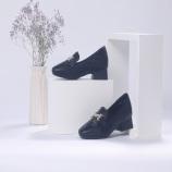 箴美菱格纹轻便羊皮女鞋·黑色