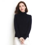 墨枝 纯色百搭纯羊毛高领套头羊毛衫女(五色可选,M90079009)·上青