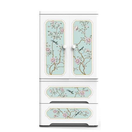 海兴也雅富贵凝香中式双开门收纳柜·白色