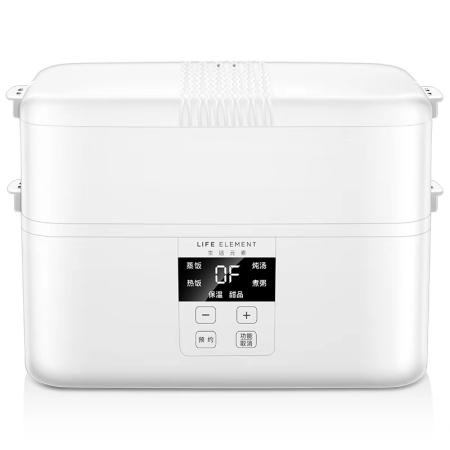 生活元素 2.0L四陶瓷容器智能预约定时可插电保温加热蒸煮电饭盒 F19  共同