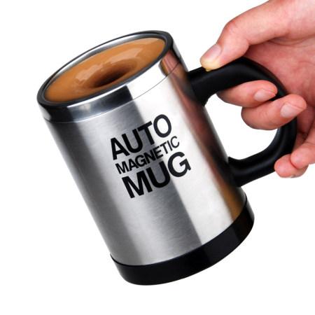 全自动不锈钢便捷搅拌磁化杯·400ML  不锈钢色