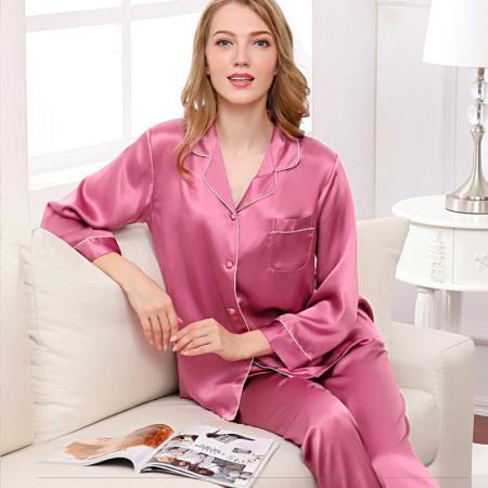 法莱舒卡100%桑蚕丝春夏睡衣套装·优雅大气!倾心而织!细腻柔滑!一天超值抢!