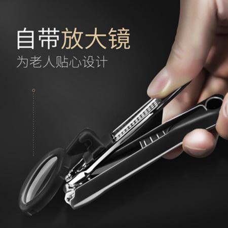 带放大镜指甲钳老人家用不锈钢指甲剪2个装