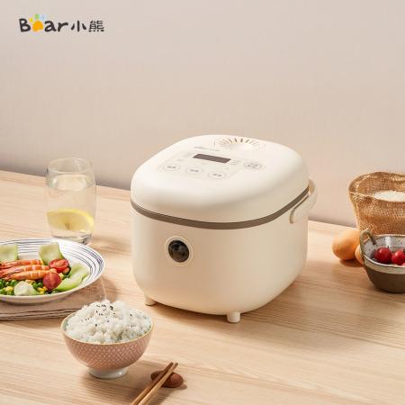 小熊(bear)2L迷你家用智能多功能煮蒸米饭电饭锅电饭煲DFB-B20A1·米黄色