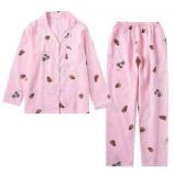 长袖+长裤(松果粉色)