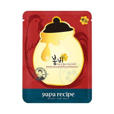 香港直邮 PapaRecipe春雨 蜂蜜黑炭红参美白面膜·红参锁水