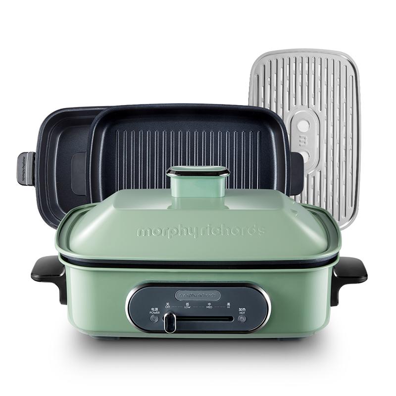 摩飞电器 MR9088多功能锅料理锅 薄荷绿  薄荷绿