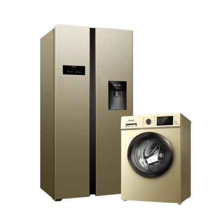 达米尼水吧冰箱+变频洗衣机套组