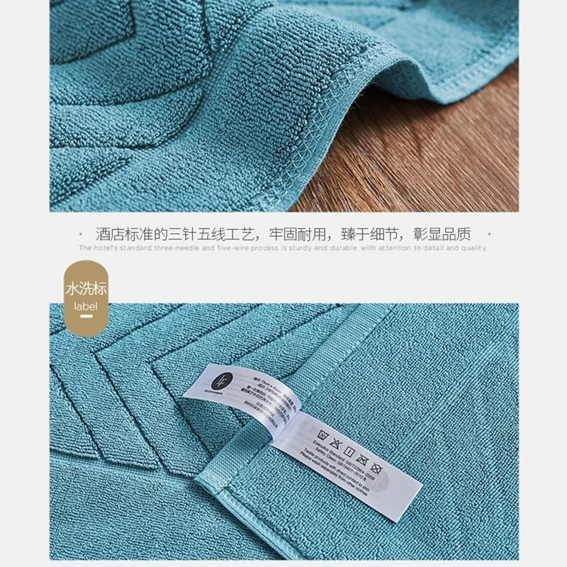 新品·拉芙菲尔·全棉浴室瞬吸防滑地巾垫·32支印度进口棉!瞬间防滑!80*50cm超大款  苍绿色