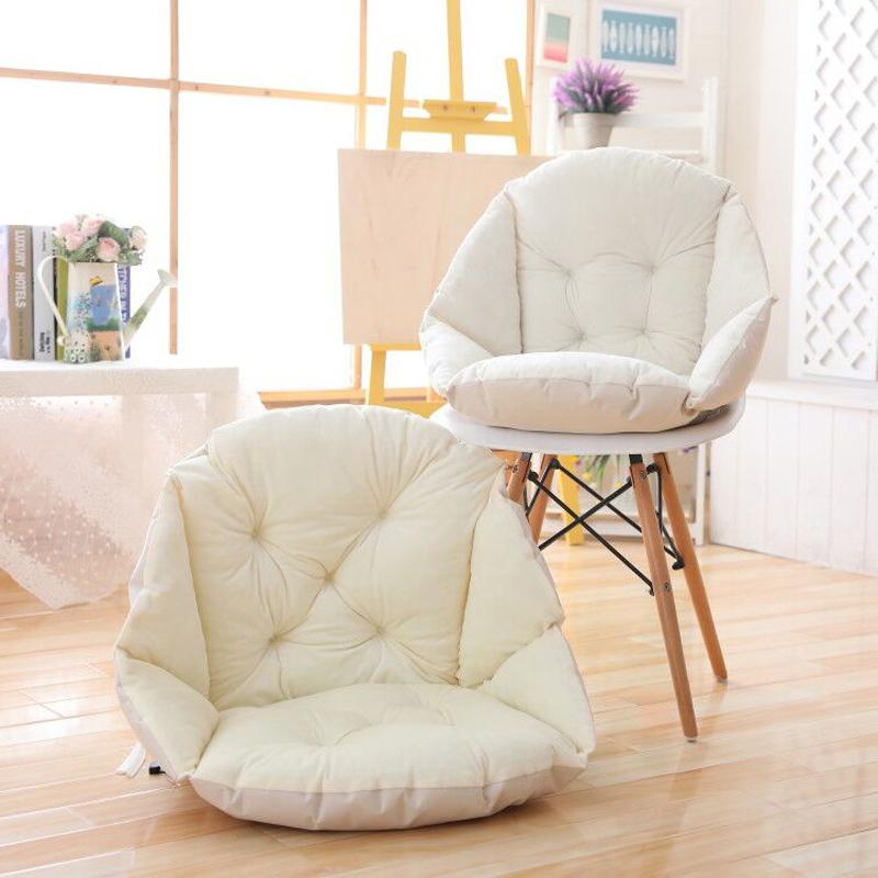 凯特之家暖绒纯色保暖靠垫背一体坐垫 时尚咖啡