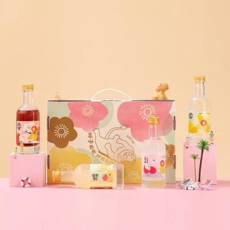 爆款狮子歌歌低度果酒8度微醺套盒四种口味【柚子/荔枝/红西柚/茉莉草莓】