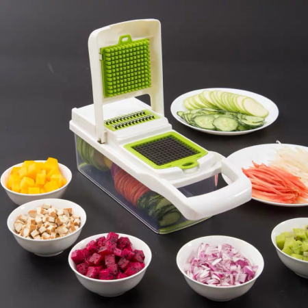 美之扣 压刨两用多功能切菜器·白绿色