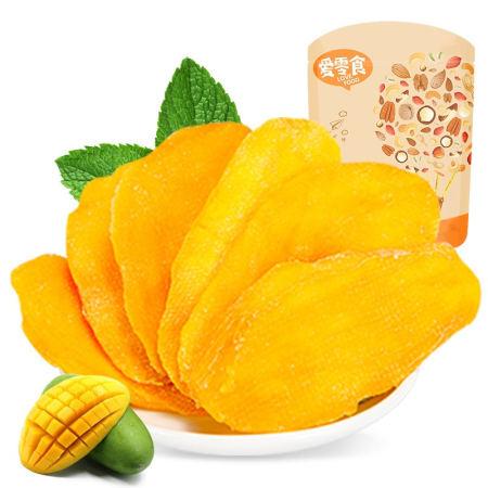 芒果干 100g*1袋,香甜细腻,大片厚实,嚼劲十足,办公室休闲零食