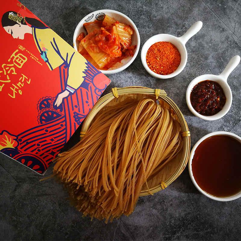 韩式冷面 355g*5盒,荞麦+小麦两种面饼,筋道顺滑,口感清爽