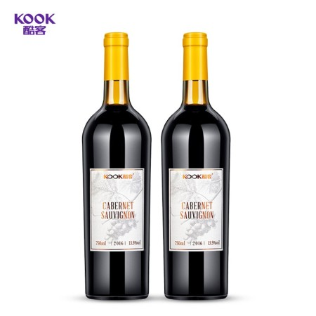 酷客赤霞珠干红葡萄酒750ml*2瓶装