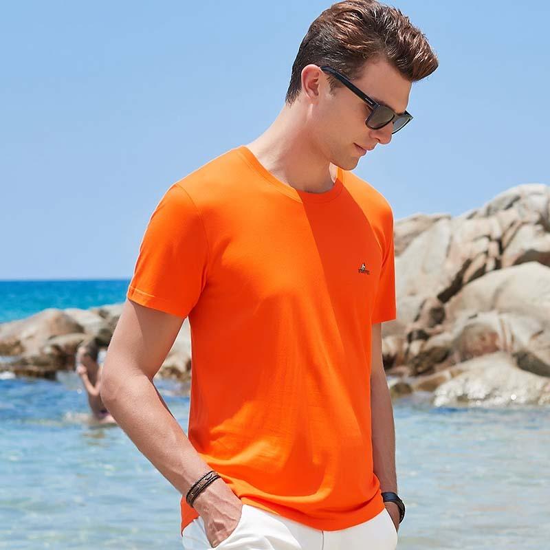 意大利富铤 2019男士纯色T恤---合体有型!经典百搭!多色可选!满足你的好色欲!