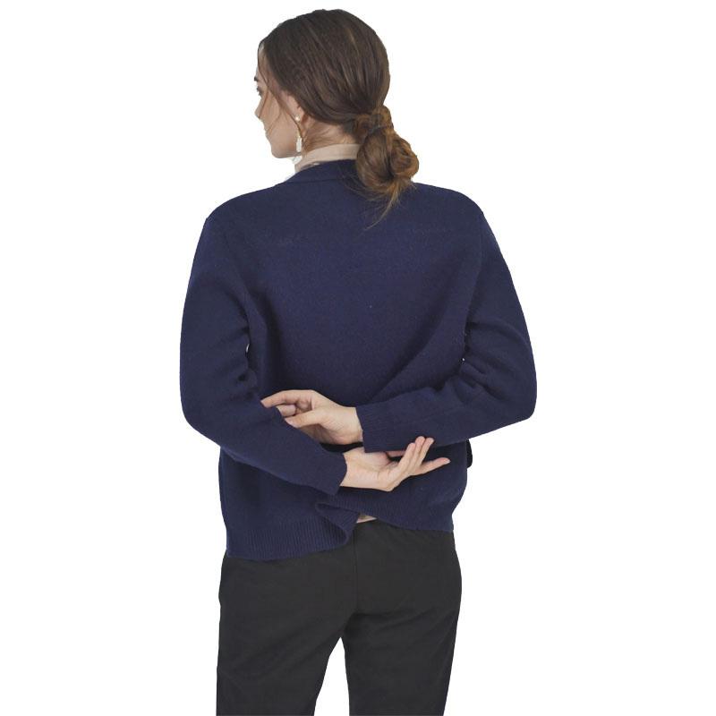 圣格伦纳棒球款针织刺绣外套·蓝色